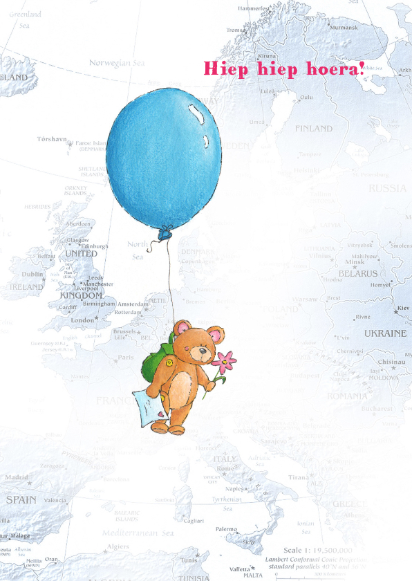 Verjaardagskaarten - Ballon 3 Illu-Straver