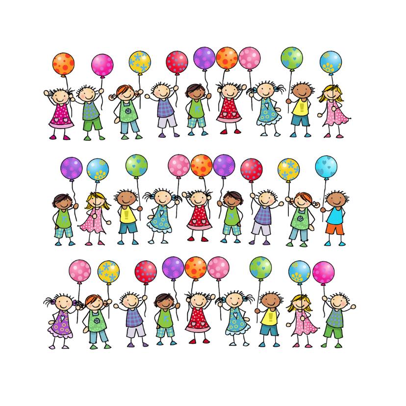 Verjaardagskaarten - Ballonnenkaart Anet illustraties