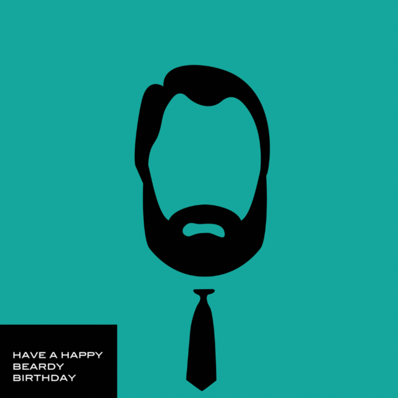 Verjaardagskaarten - beardy birthday