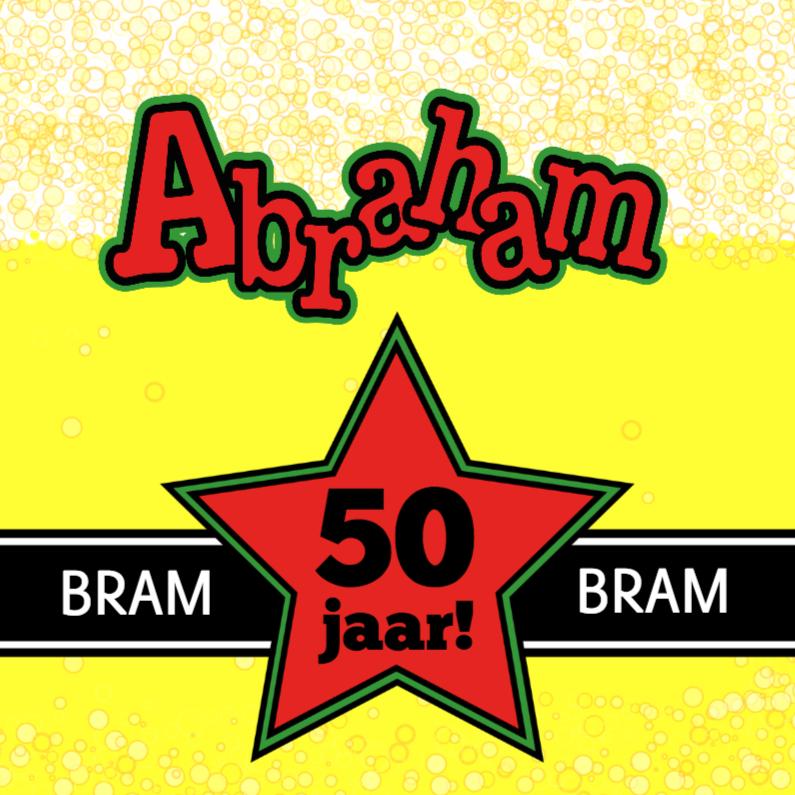 Verjaardagskaarten - BIERTJE Felicitatie kaart ABRAHAM