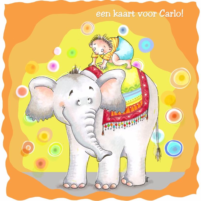 Verjaardagskaarten - Carlo en de olifant