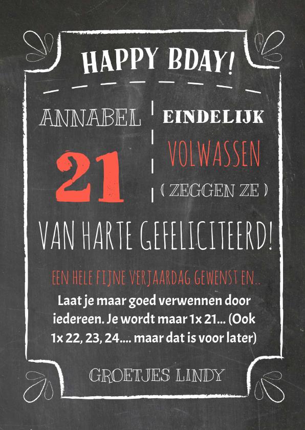 Verjaardagskaarten - Chalkboard verjaardag - DH