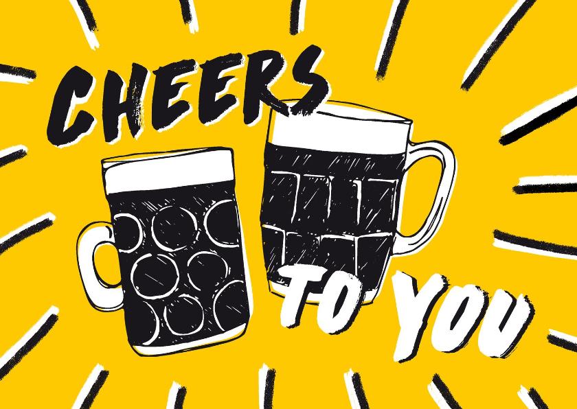 Verjaardagskaarten - Cheers verjaardagskaart biertjes