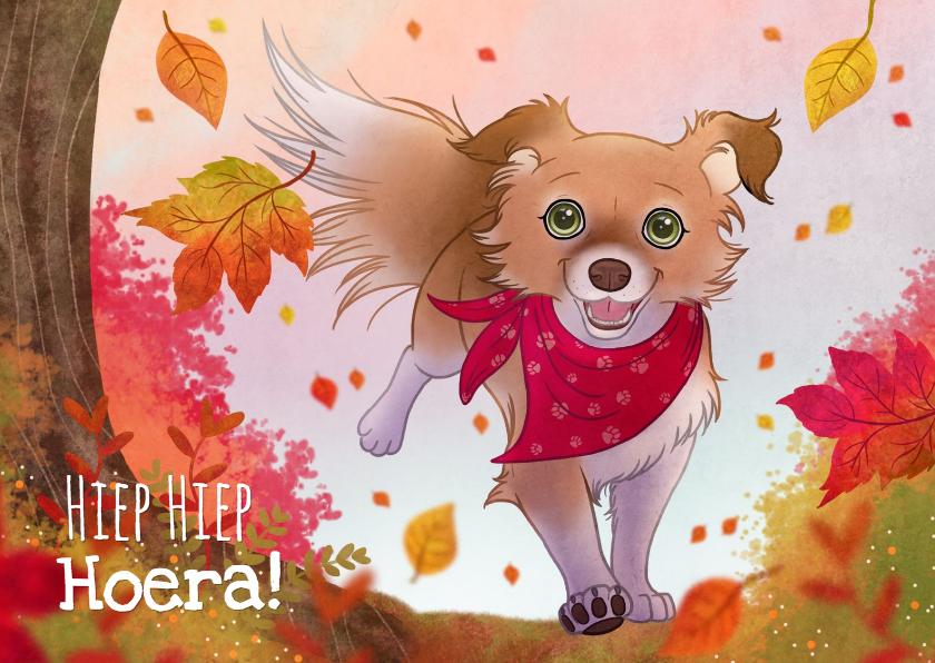 Verjaardagskaarten - Chiwowy verjaardagskaart herfst Penny