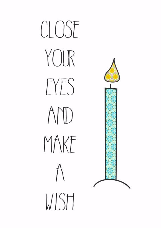 Verjaardagskaarten - Close Your eyes