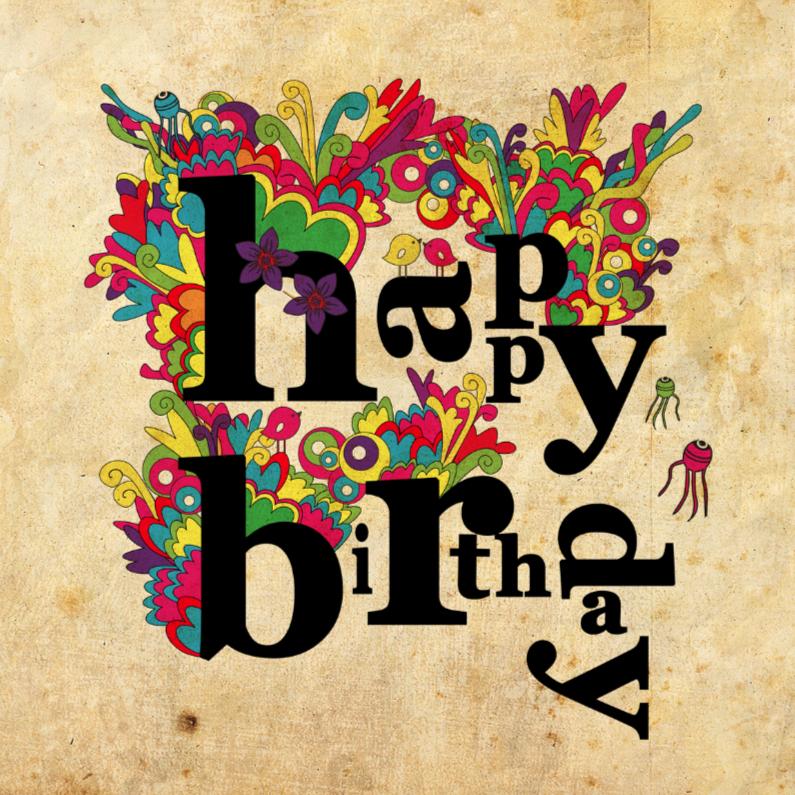 Verjaardagskaarten - colours extra