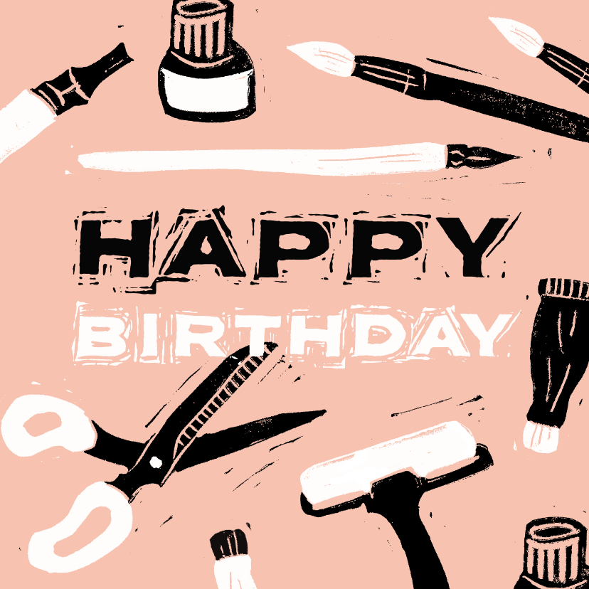 Verjaardagskaarten - Creatieve verjaardagskaart