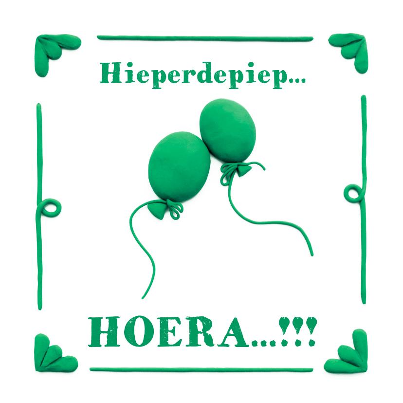 Verjaardagskaarten - Delfts Blauwe Ballonnen Verjaardagskaart