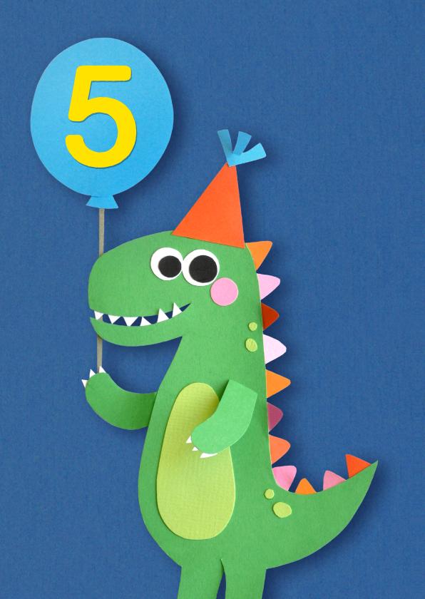 Verjaardagskaarten - Dino leeftijd verjaardagkaart