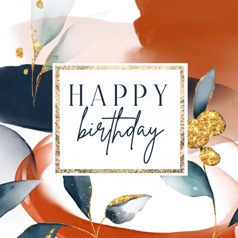 Verjaardagskaarten - Een sprankelijke verjaardagskaart met geovormen vrouw