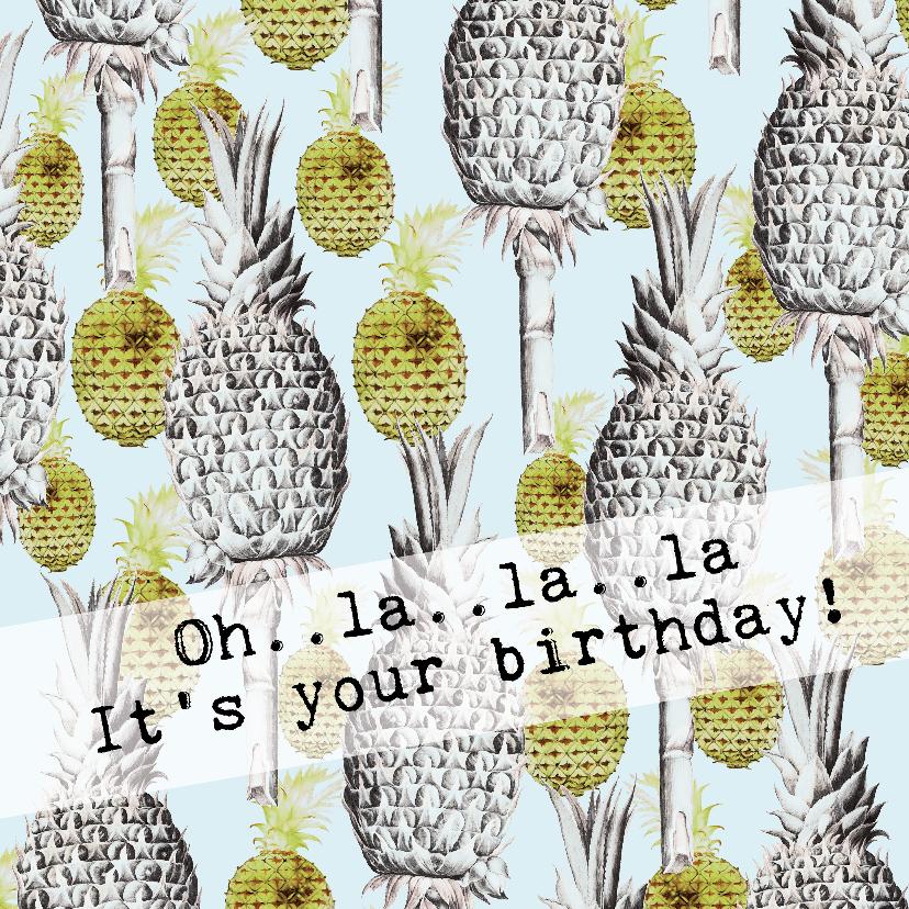 Verjaardagskaarten - Een tropische verjaardagskaart OH..LA..LA..LA!
