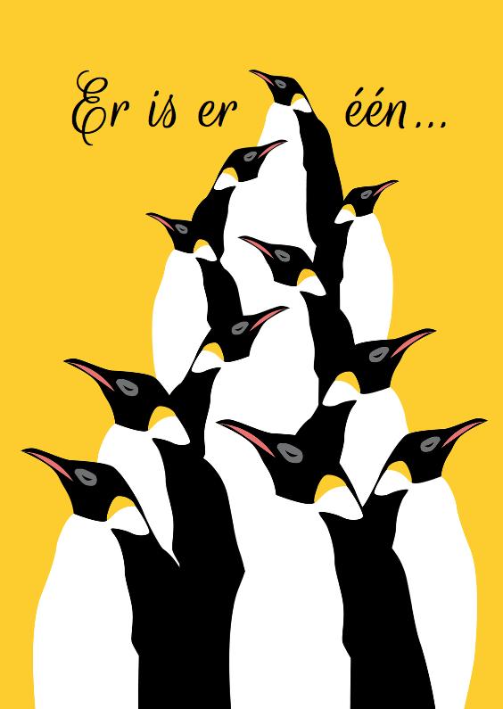 Verjaardagskaarten - Er is er een jarig - pinguins