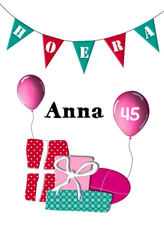 Verjaardagskaarten - Feestelijke verjaardag 2