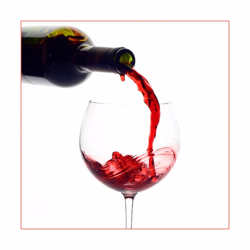 Verjaardagskaarten - Feestkaart Lichte rode wijn