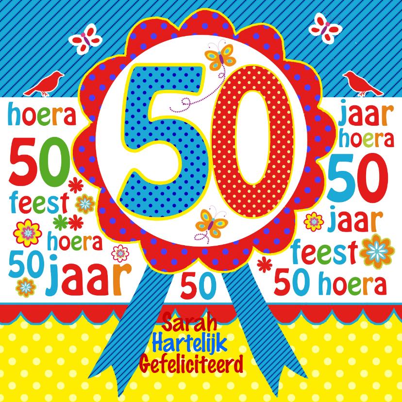 Verjaardagskaarten - Felicitatie Sara rozet