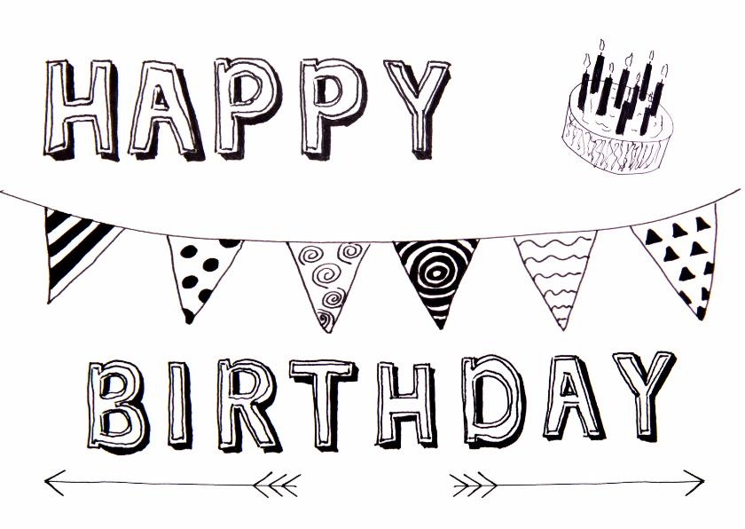 Verjaardagskaarten - felicitatie verjaardag birthday