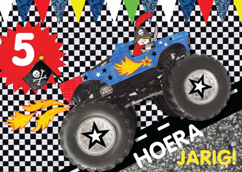 Verjaardagskaarten - Felicitatie verjaardag jongen stoere auto