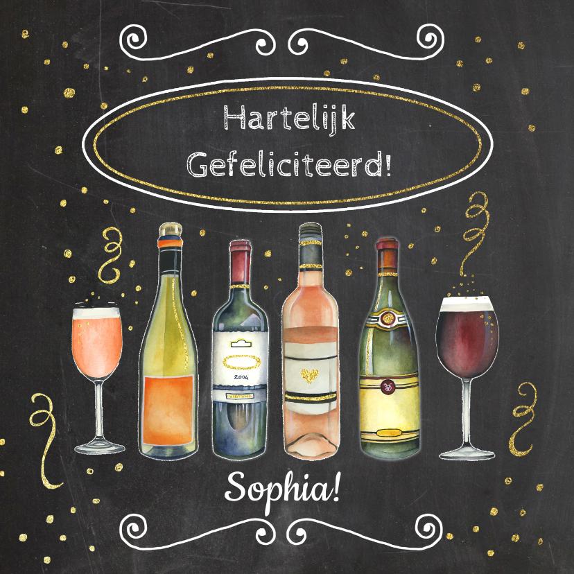 Verjaardagskaarten - Felicitatie verjaardag wijn