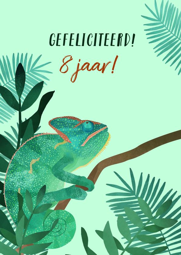 Verjaardagskaarten - Felicitatiekaart Kameleon
