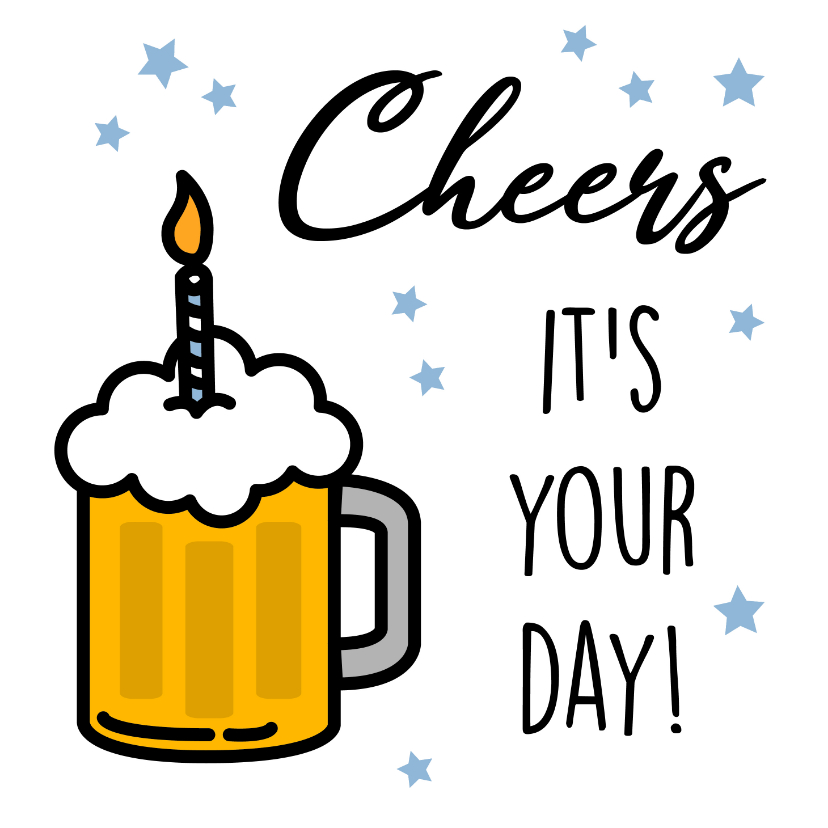 Verjaardagskaarten - Felicitatiekaart met bier