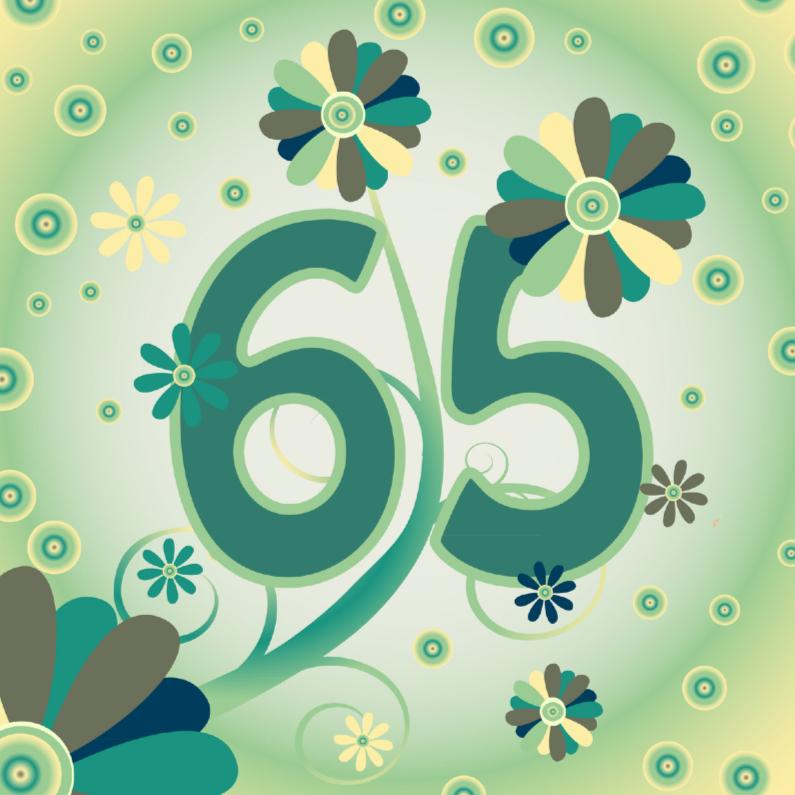Verjaardagskaarten - flowerpower2 65 jaar
