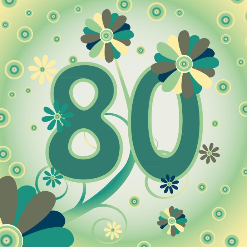 Super Verjaardag 80 Jaar Kaart | Verjaardag @HD28