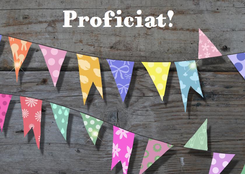 Verjaardagskaarten - Fotokaart sloophout en vlaggen