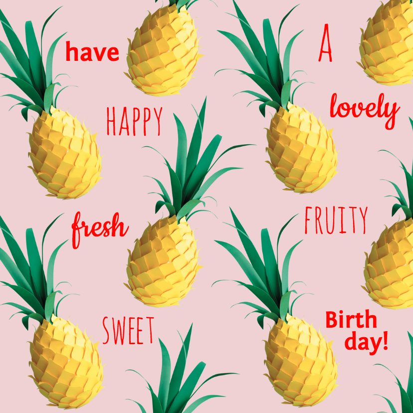Verjaardagskaarten - fresh fruity birthday