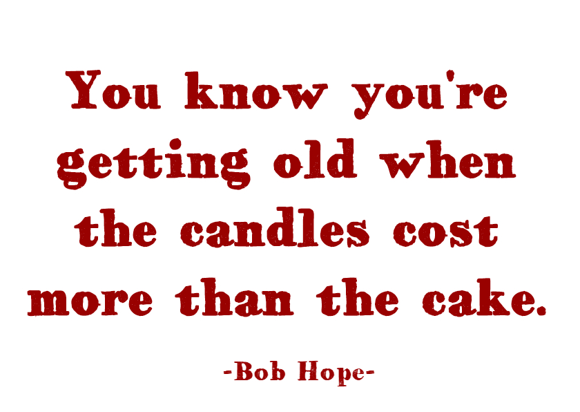 Verjaardagskaarten - Getting old