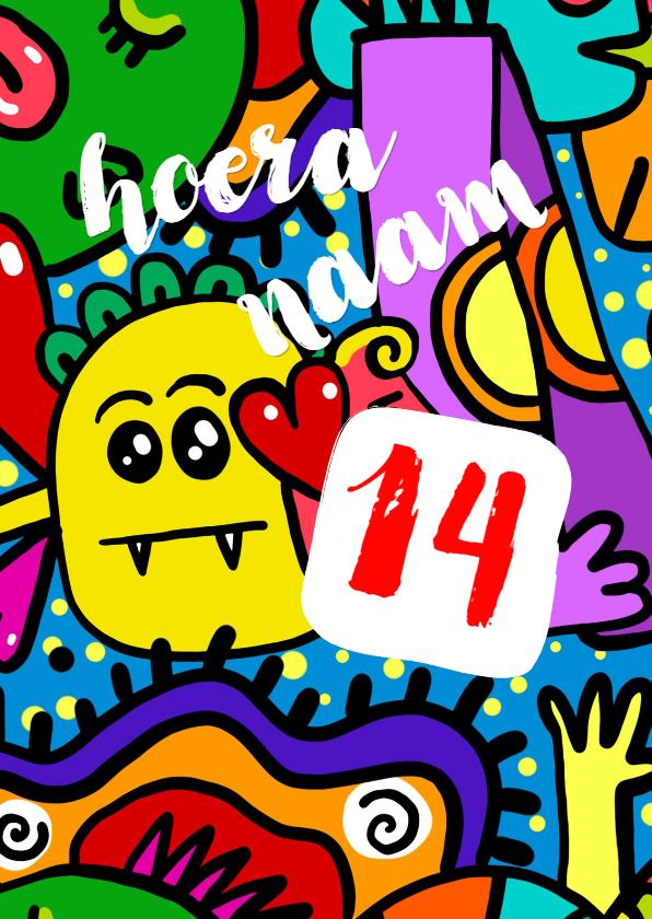 Verjaardagskaarten - graffiti - proficiat