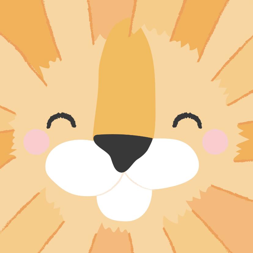 Verjaardagskaarten - Grappige felicitatiekaart met het gezicht van een leeuw