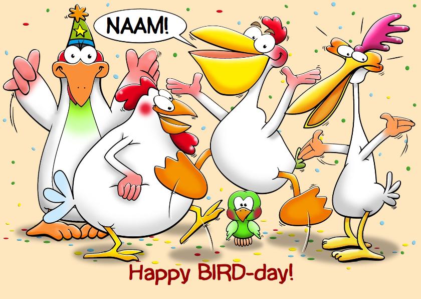 Verjaardagskaarten - Grappige verjaardagskaart met tekst BIRD-day