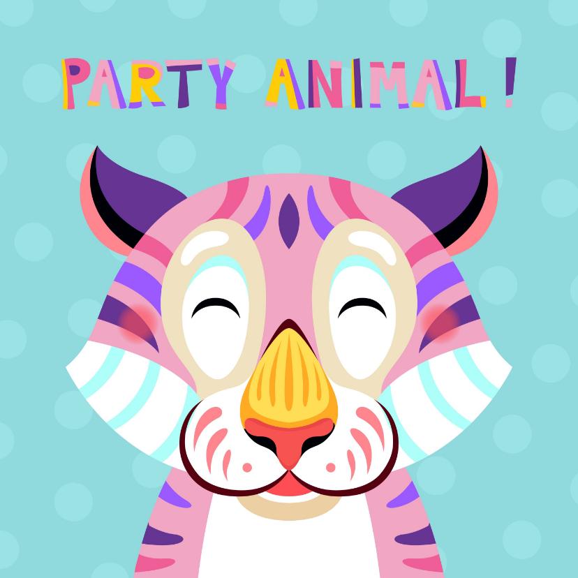 Verjaardagskaarten - Grappige verjaardagskaart met tijger