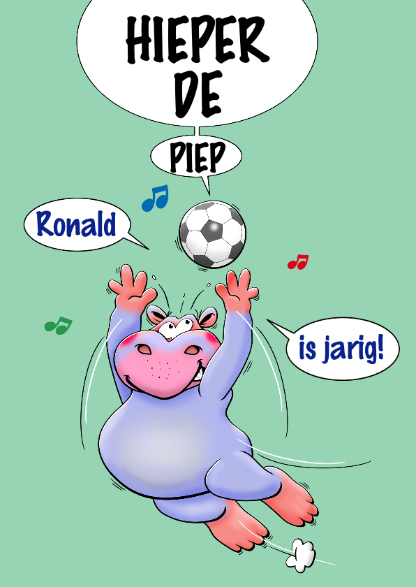 Verjaardagskaarten - Grappige verjaardagskaart voor kind met voetbal