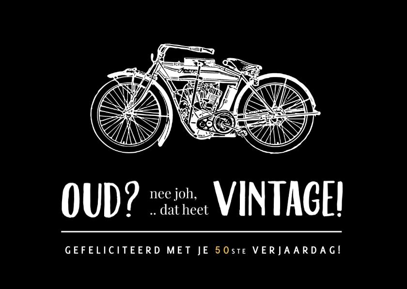 Verjaardagskaarten - Grappige vintage of oude motor verjaardagskaart voor een man
