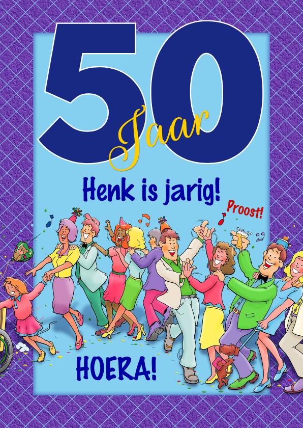 Verjaardagskaarten - Grappige voor een man van 50 jaar verjaardag polonaise