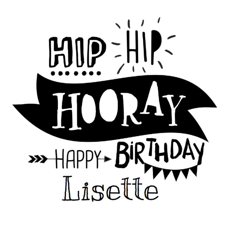 Verjaardagskaarten - Handlettering Typo Verjaardag