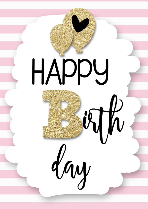 Verjaardagskaarten - Happy B-day-balloons