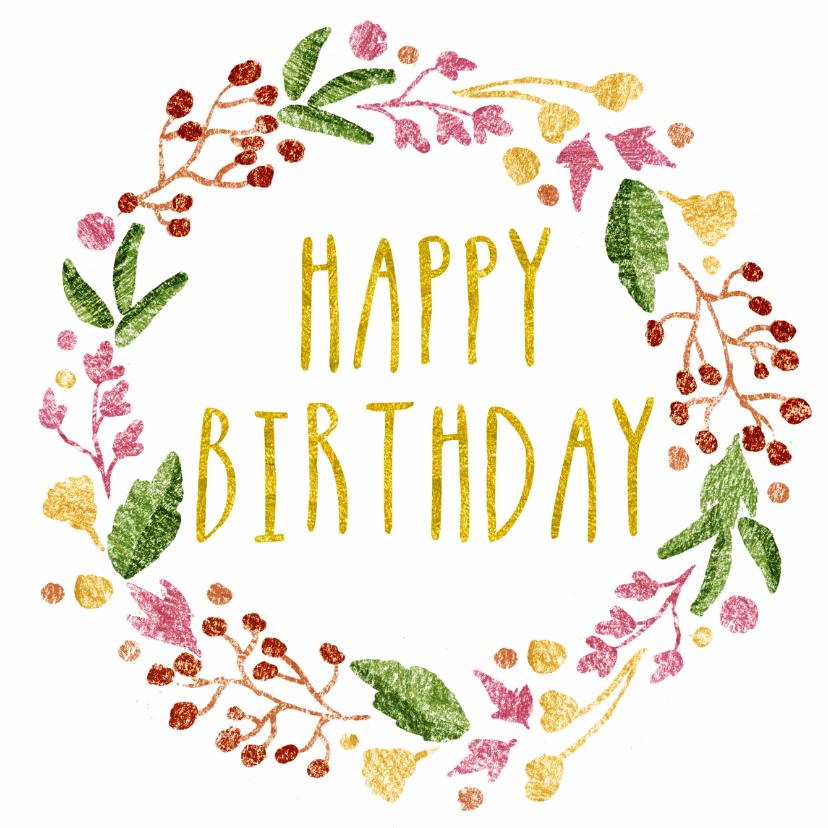 Verjaardagskaarten - Happy B-day Flowers