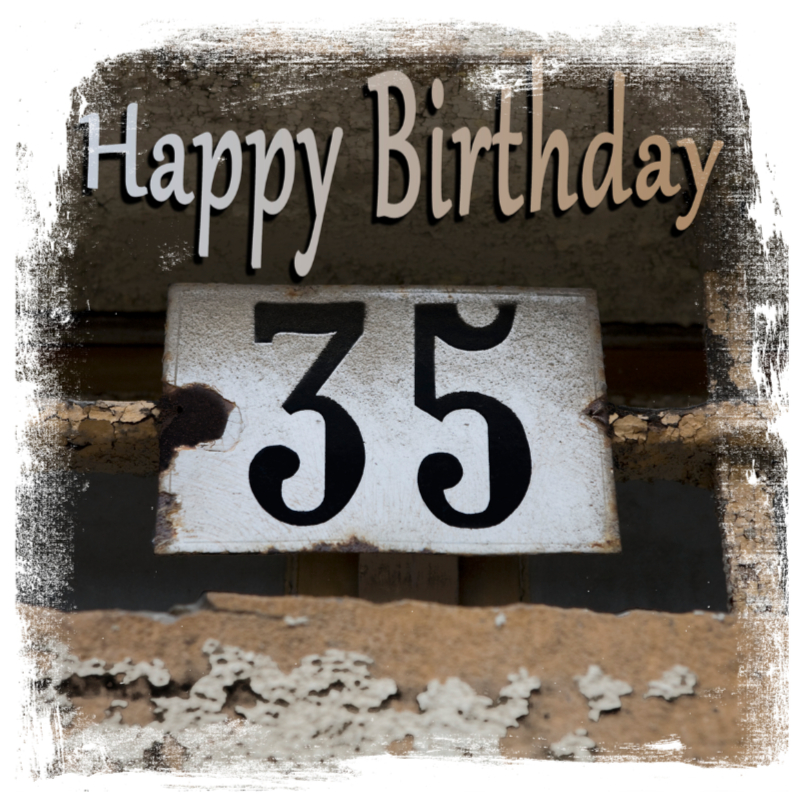 Verjaardagskaarten - happy birthday 35x