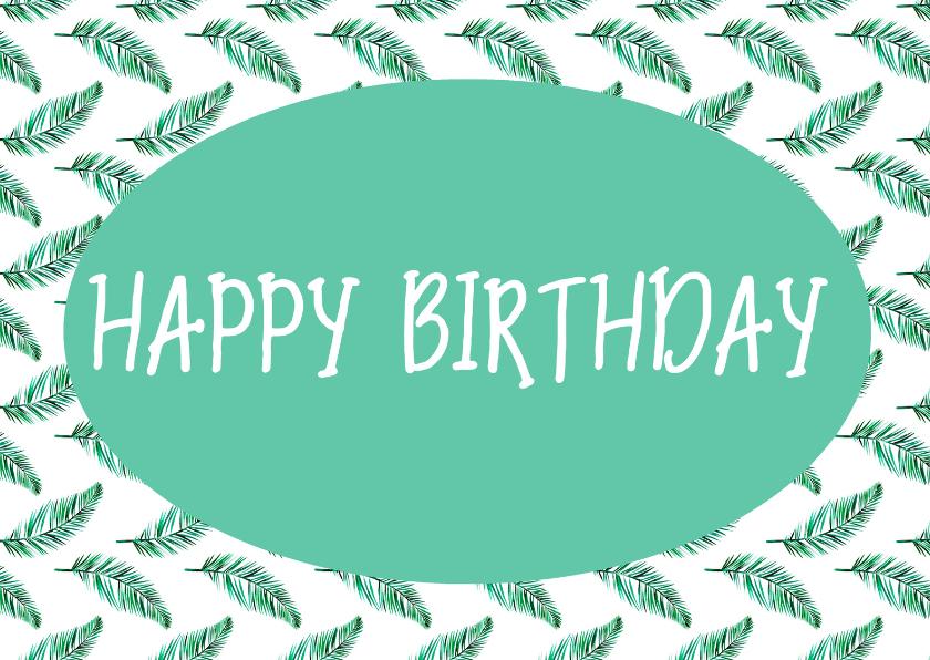 Verjaardagskaarten - Happy birthday botanisch