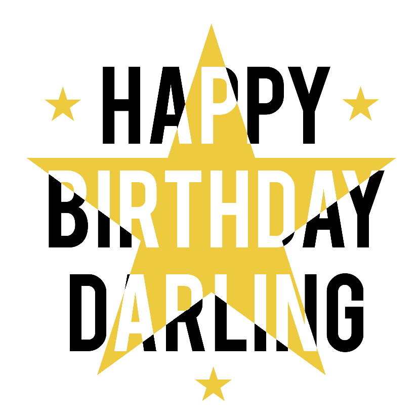 Verjaardagskaarten - Happy Birthday Darling ster