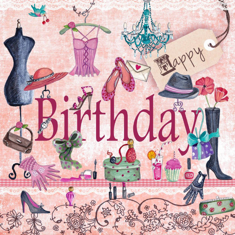 Verjaardagskaarten - Happy Birthday Girls Meisje