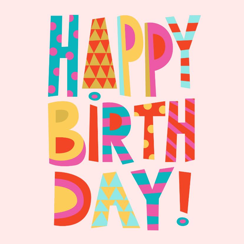 Verjaardagskaarten - Happy Birthday verjaardagskaart vrouw