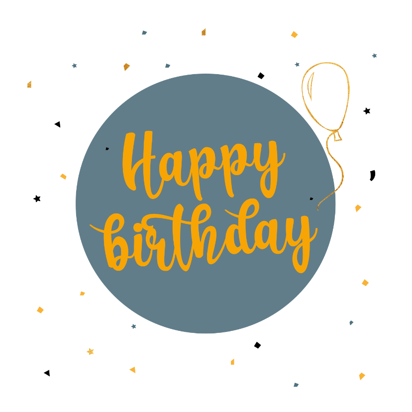 Verjaardagskaarten - Happy Birthday with balloon - verjaardagskaart
