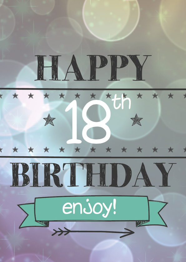 Verjaardagskaarten - Happy leeftijd birthday-enjoy