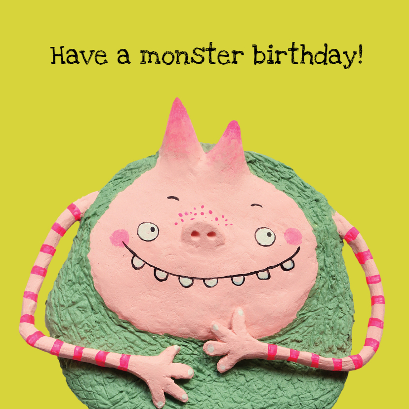 Verjaardagskaarten - Have a monster birthday!