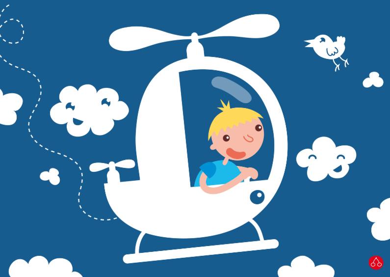 Verjaardagskaarten - Helicopter boy