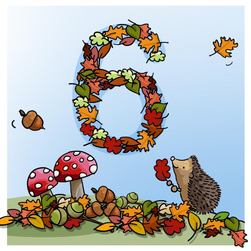 Verjaardagskaarten - Herfst verjaardag 6 Anet Illustraties