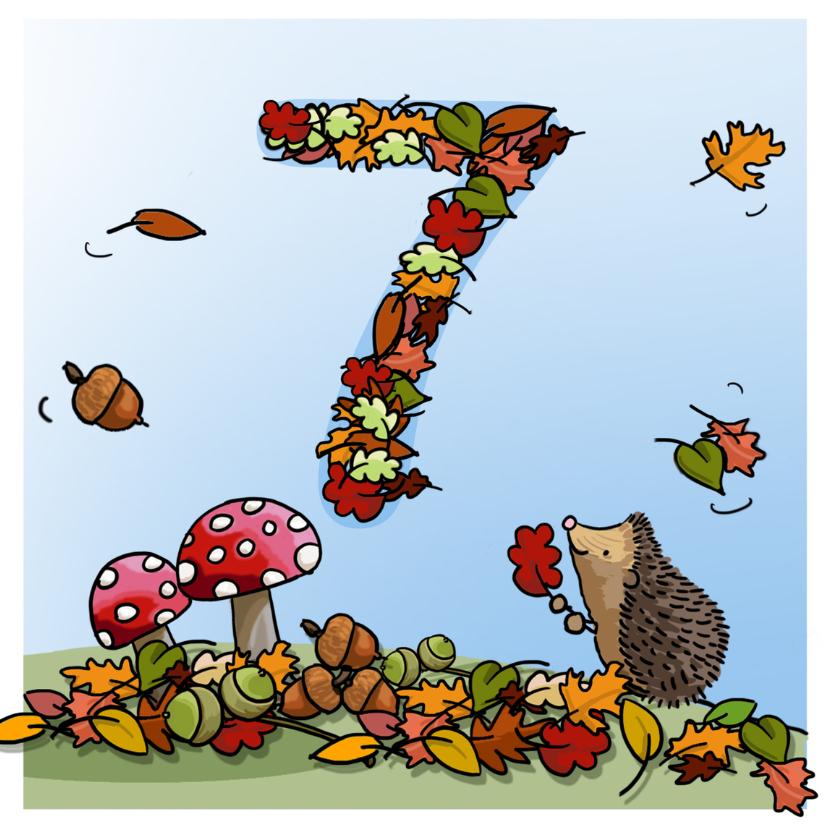 Verjaardagskaarten - Herfst verjaardag 7 Anet Illustraties